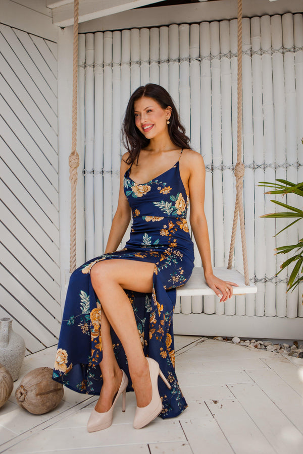 The Bambina Dress - Navy Floral