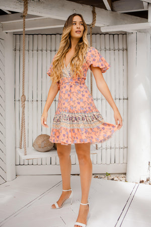 The Melanie Wrap Dress -  Soda