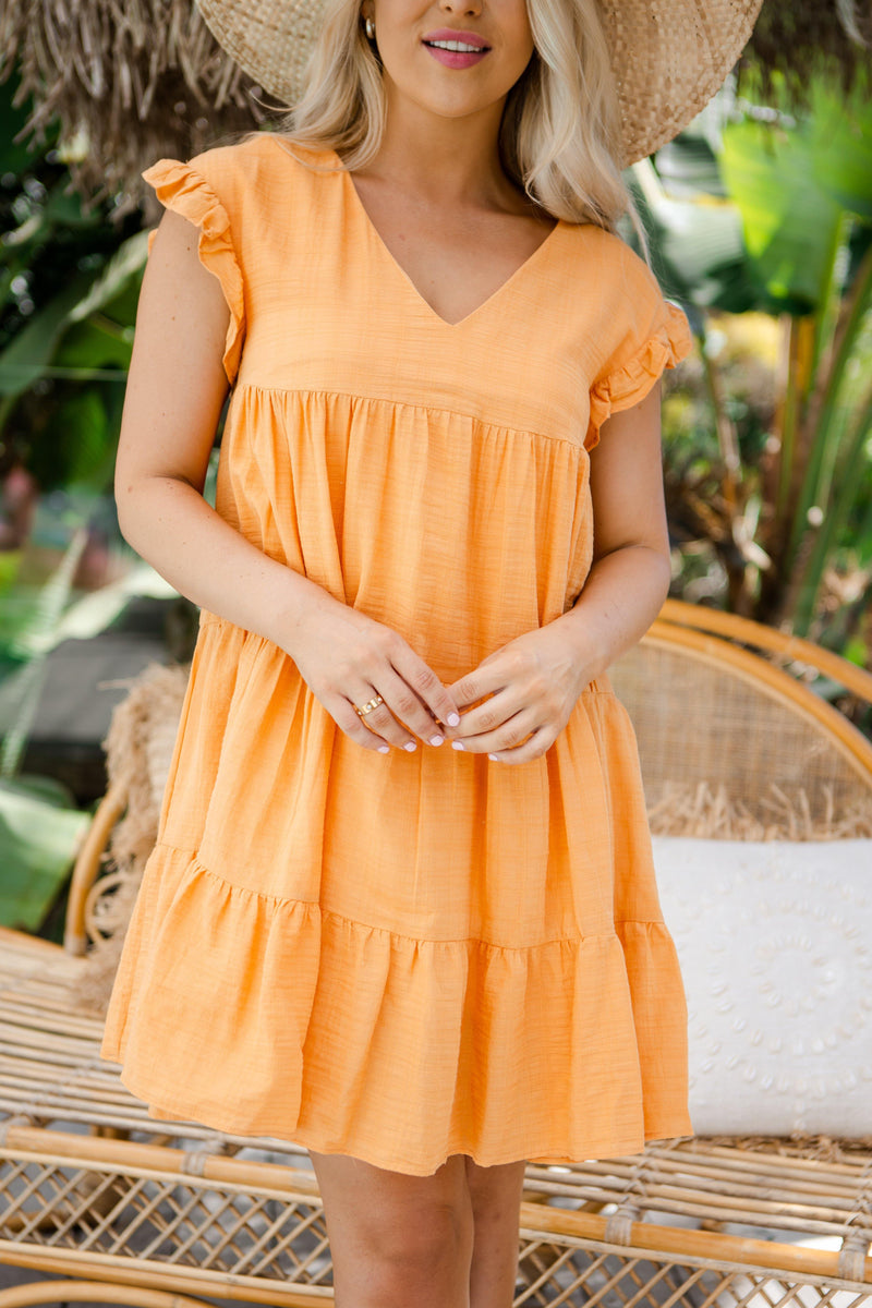 The Elford Dress - Peach Delight