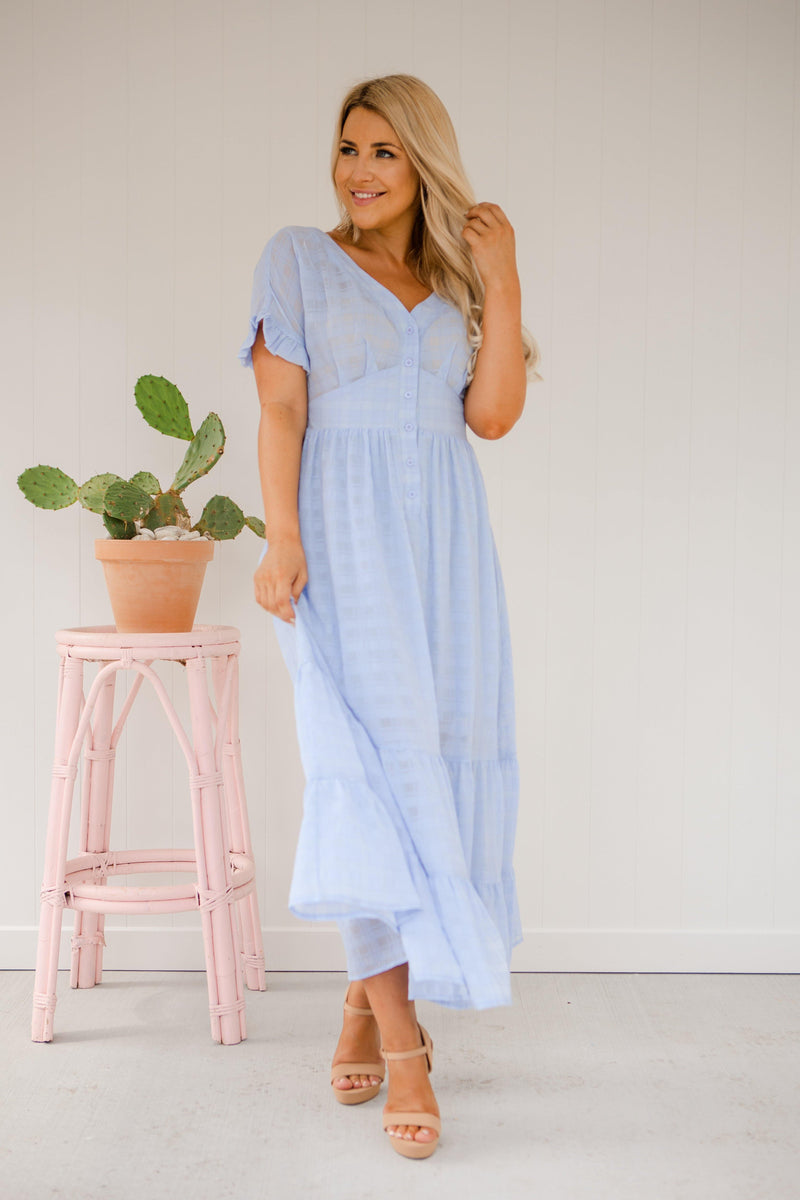 The Luisa Dress - Baby Blue