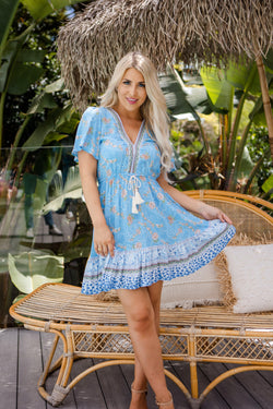 The Jasmina Dress – Chicago Blue