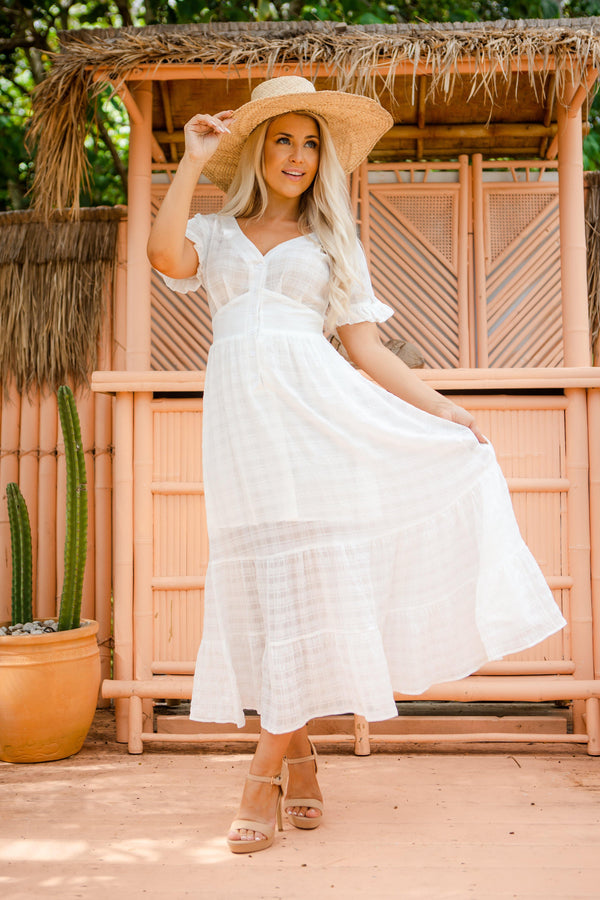The Luisa Dress - White Haven