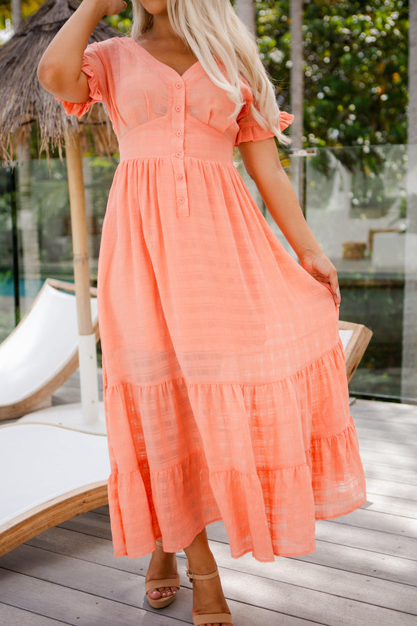 The Luisa Dress - Coral