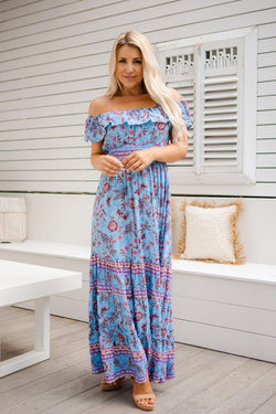 The Cara Dress - Peruvian Blue
