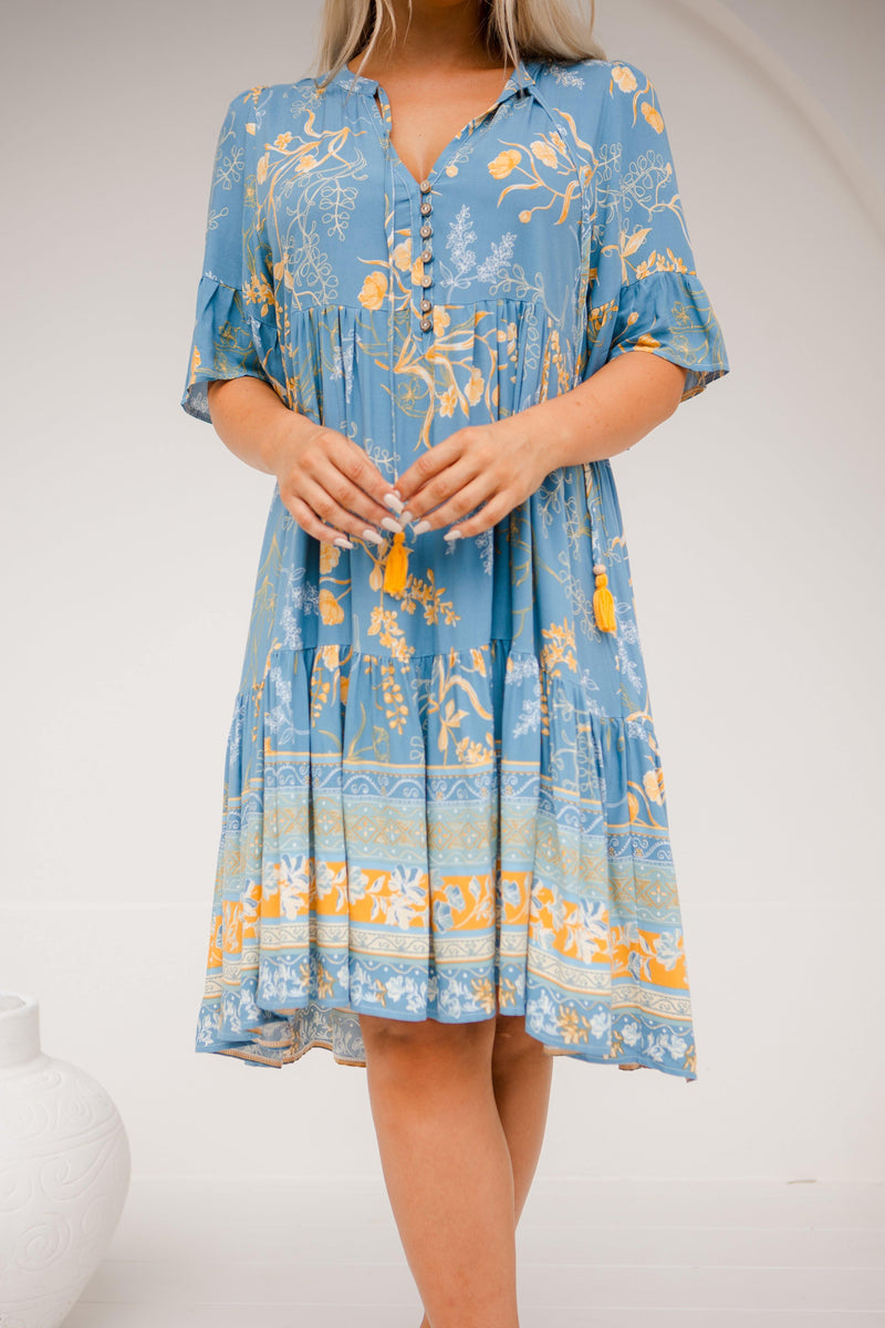 The Emerson Dress - Amazon Blue