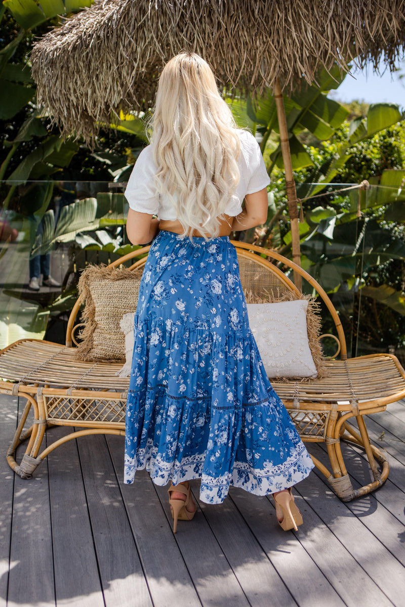 The Milly Skirt - Deep Blue