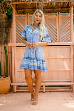 The Aviva Dress - Ocean Blue