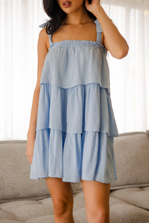 The Spencer Dress - Baby Blue