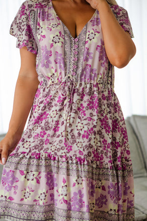 The Nala Dress - Purple Tahiti