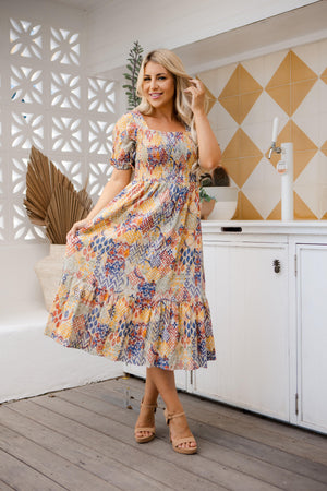 The Orla Dress - Sahara Print