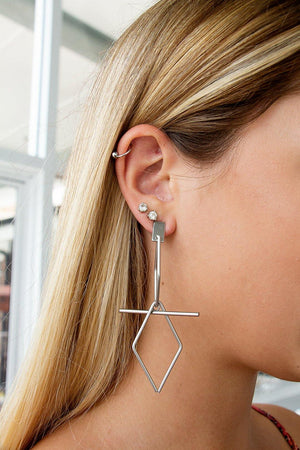 Mikiah Earrings – Silver