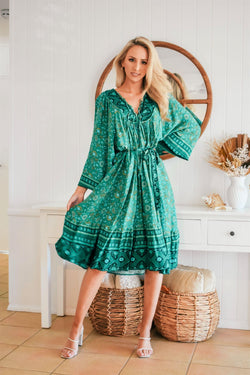 The Josephine Dress - Emerald