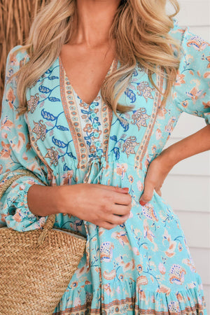 The Lola Dress – Pastel Blue