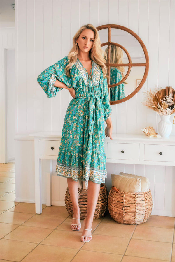 The Josephine Dress - Forest Green
