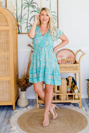 The Nala Dress - Capri Green
