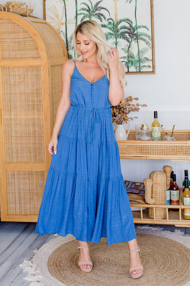 The Evelyn Dress - True Blue - Sparrow & Finch Boutique