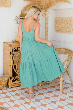 The Evelyn Dress - Pistachio
