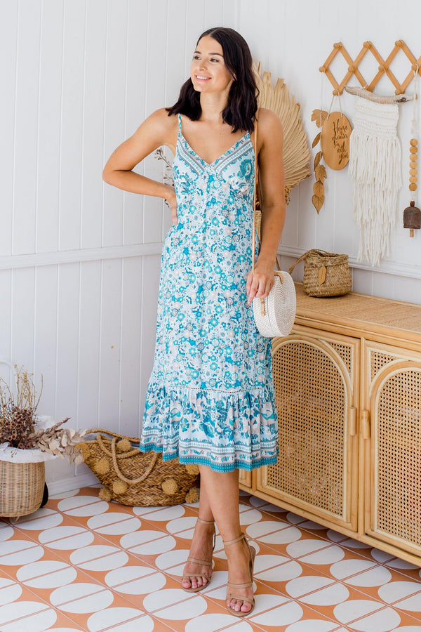 The Rayna Dress - Turquoise Green