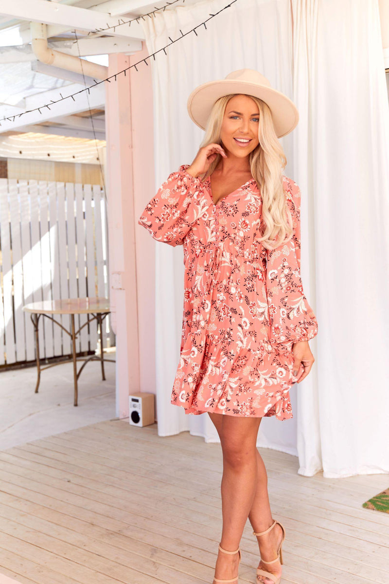 The Lola Dress – Dusty Pink