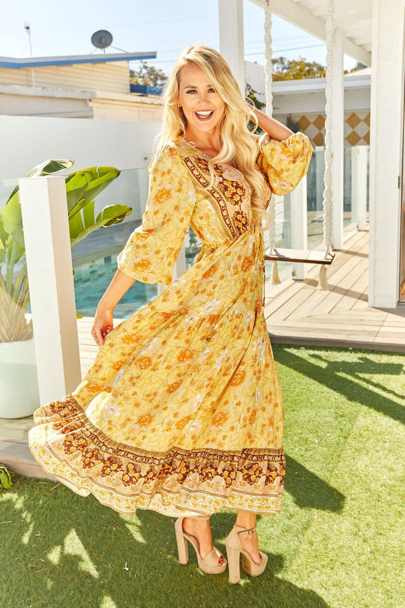 The Evie Dress - Turmeric