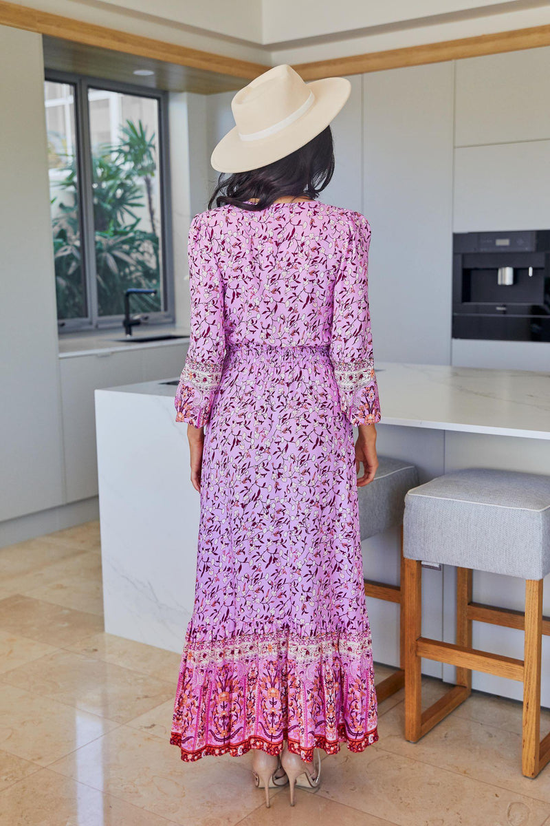 The Arya Dress  - Pink/Purple