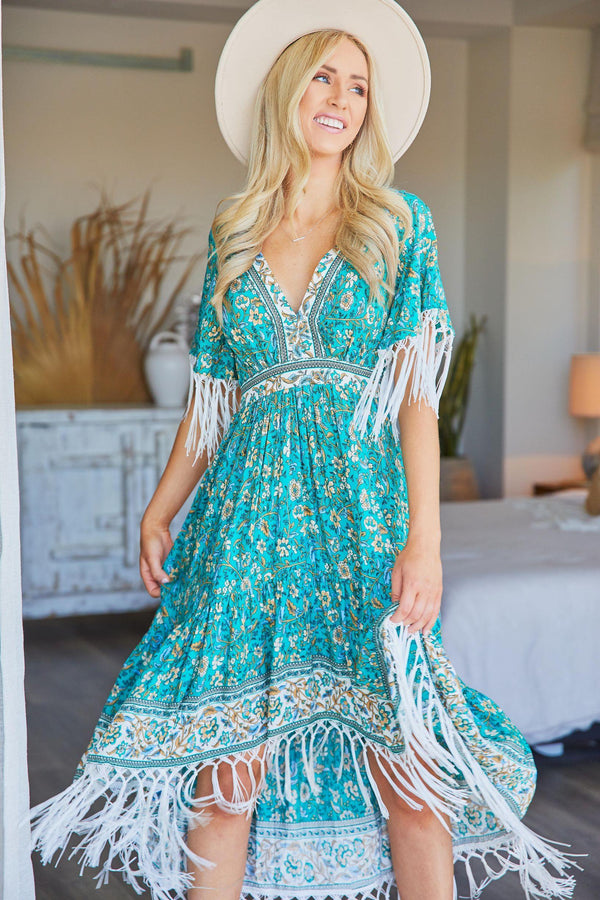 The Harlow Dress - Emerald