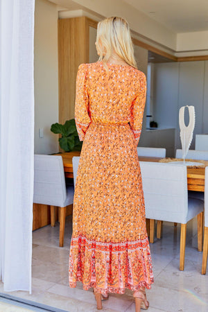 The Arya Dress  - Sunset Orange