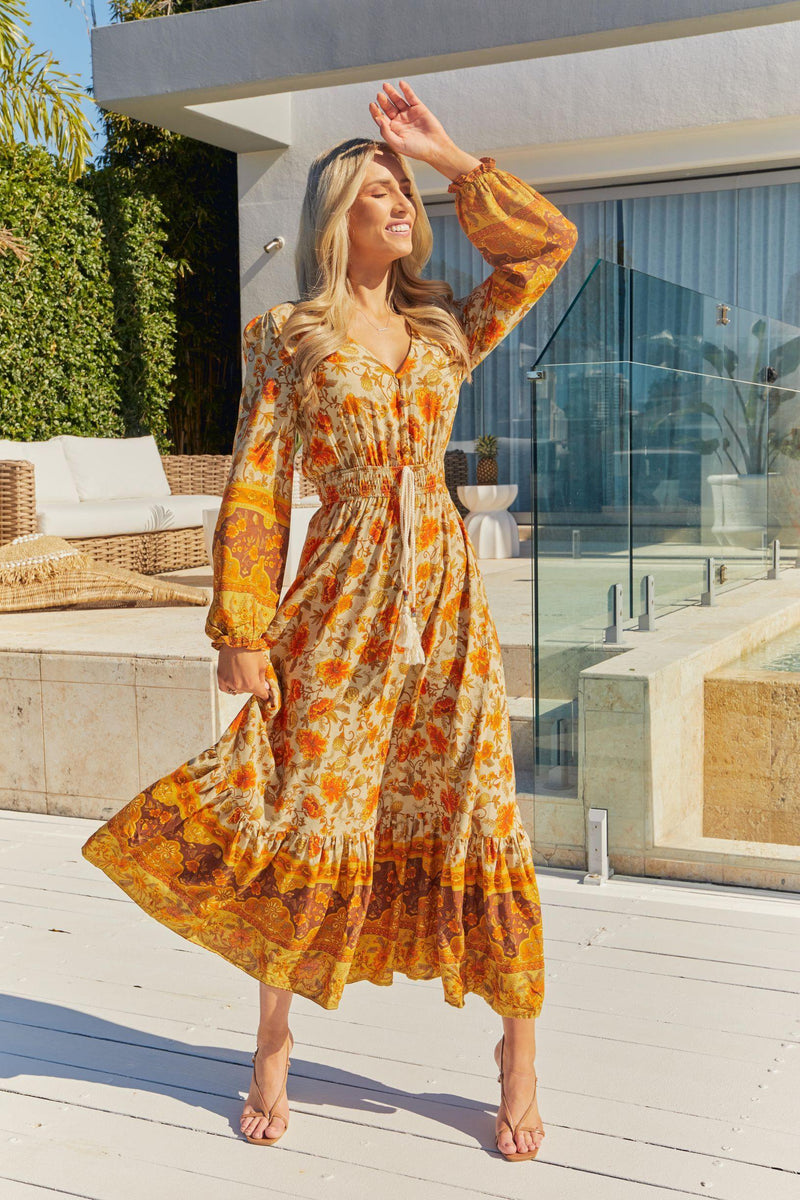The Arya Dress  - Marigold