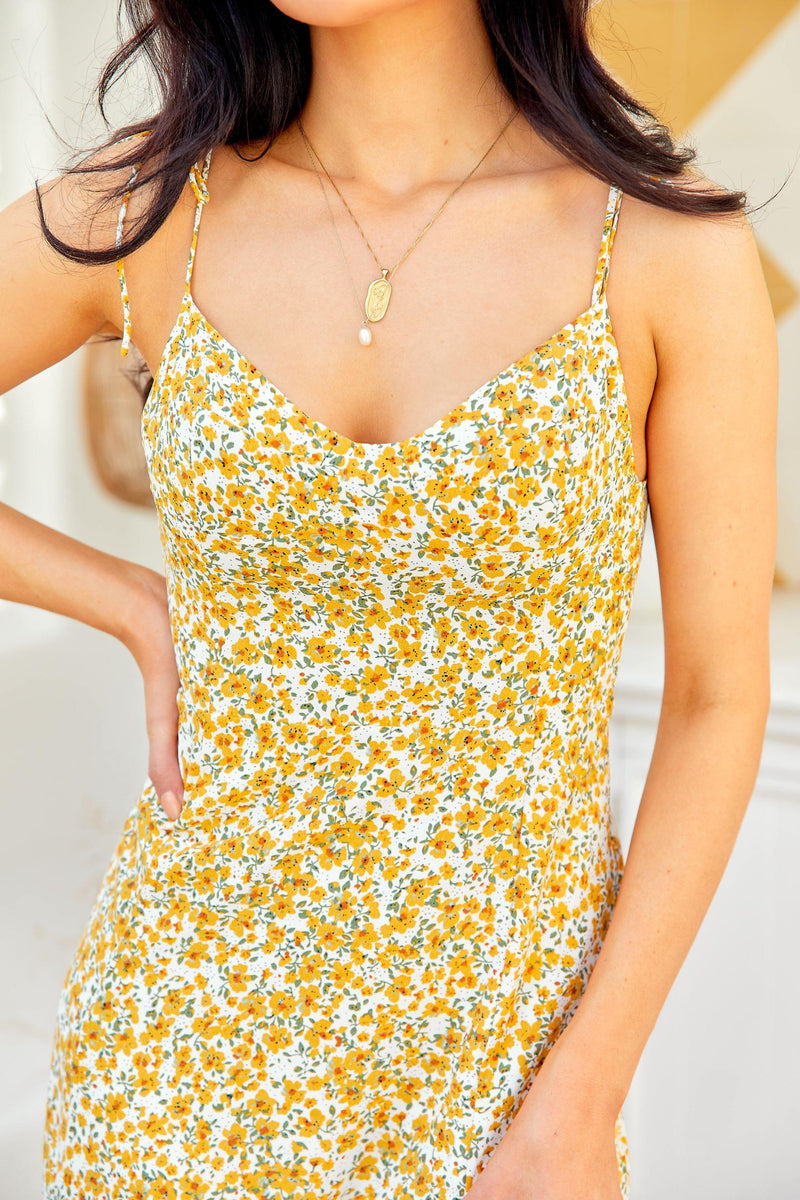 The Delaney Dress – Yellow Posy