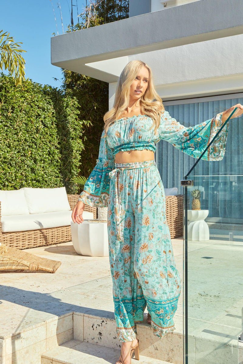 The Angelina Set - Mint – (Crop Top Only)