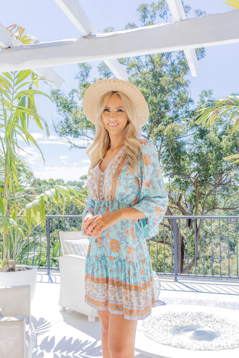 The Lola Dress – Sky Blue