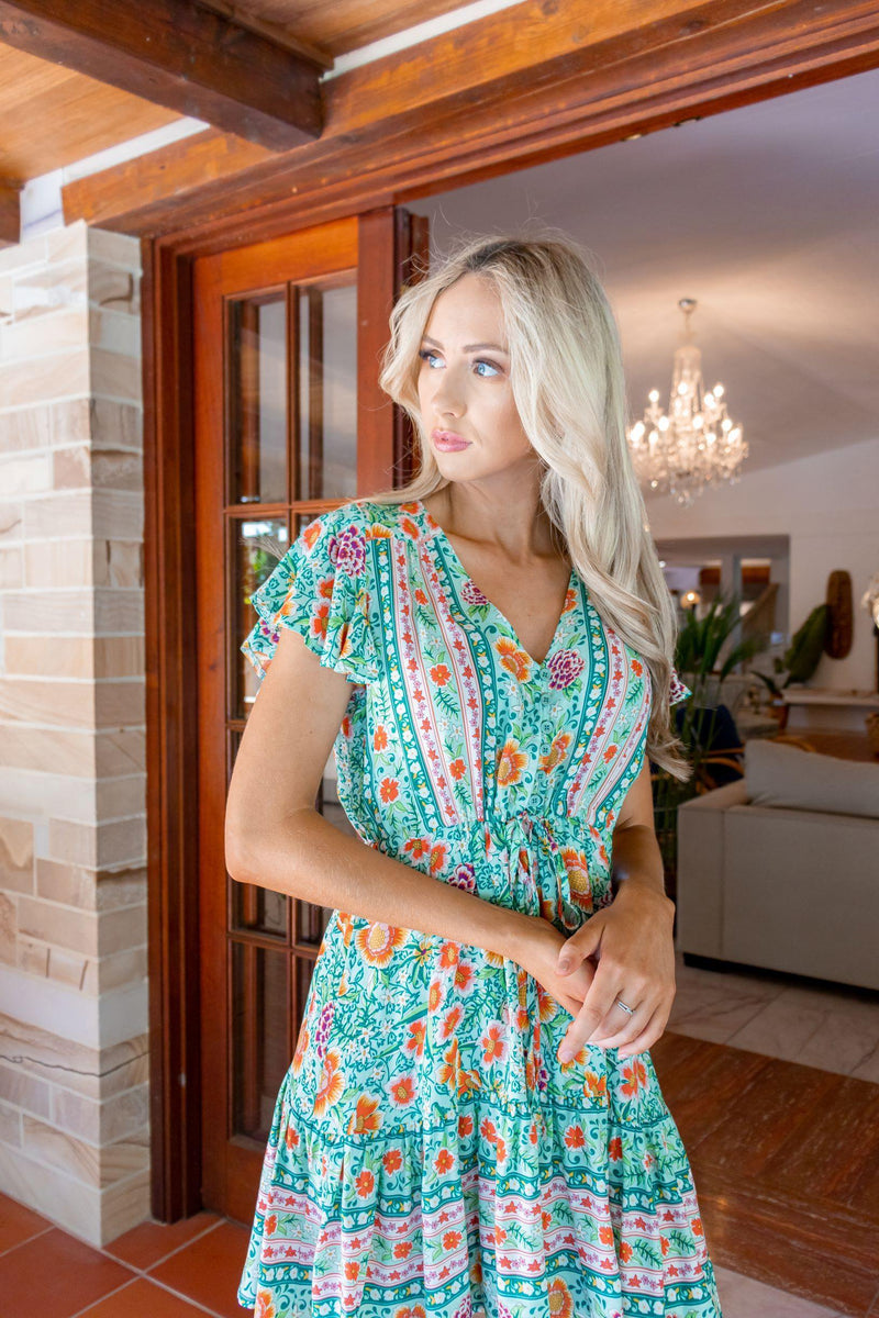 The Nala Dress – Green Paradise