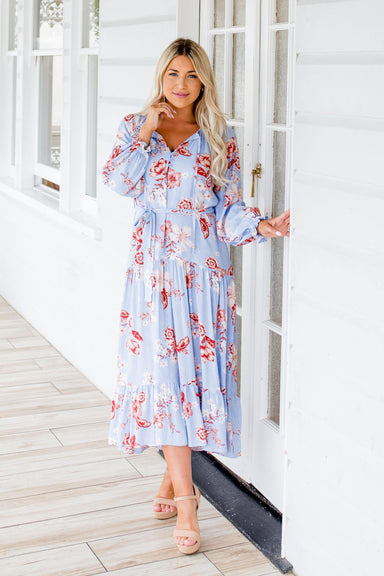 The Talulla Dress - Light Blue Cerato - Sparrow & Finch Boutique