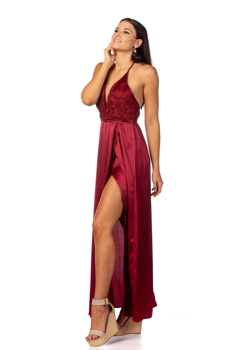 Dress Sultry Wine Formal Dress