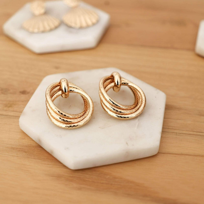 Sophia Gold Hoop Earrings