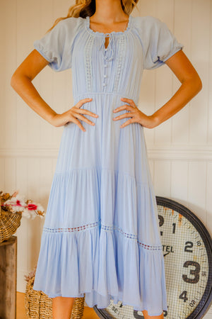 The Teegan Dress - Light Blue