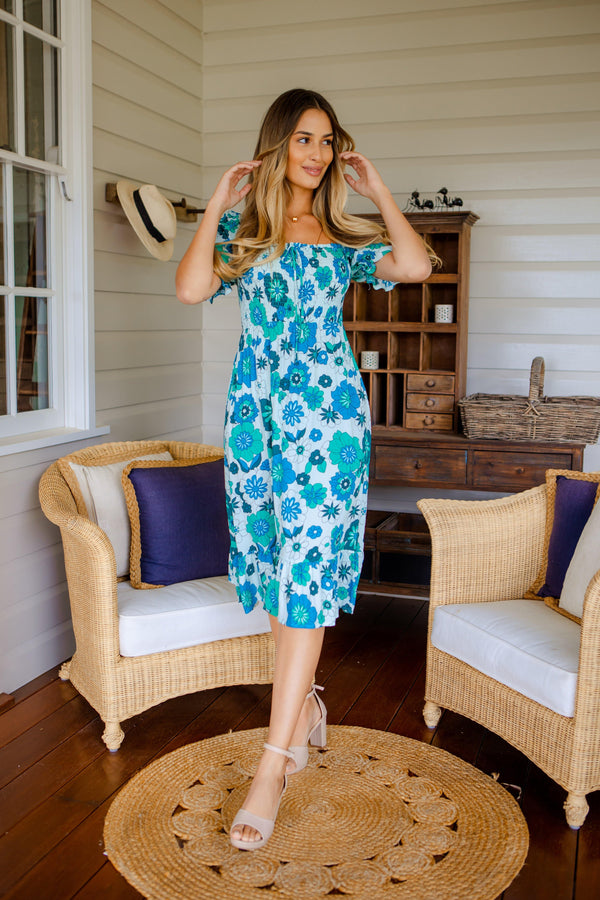 The Trinity Dress - Ocean Green