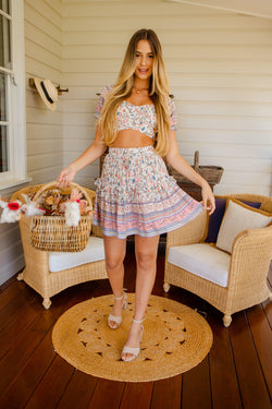 The Grecia Skirt - Candy Blooms
