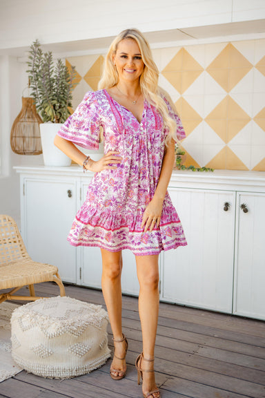 The Aviva Dress - Soft Berry - Sparrow & Finch Boutique
