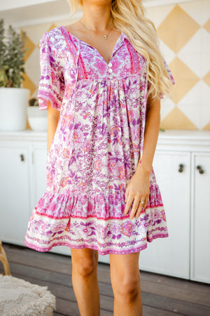 The Aviva Dress - Soft Berry