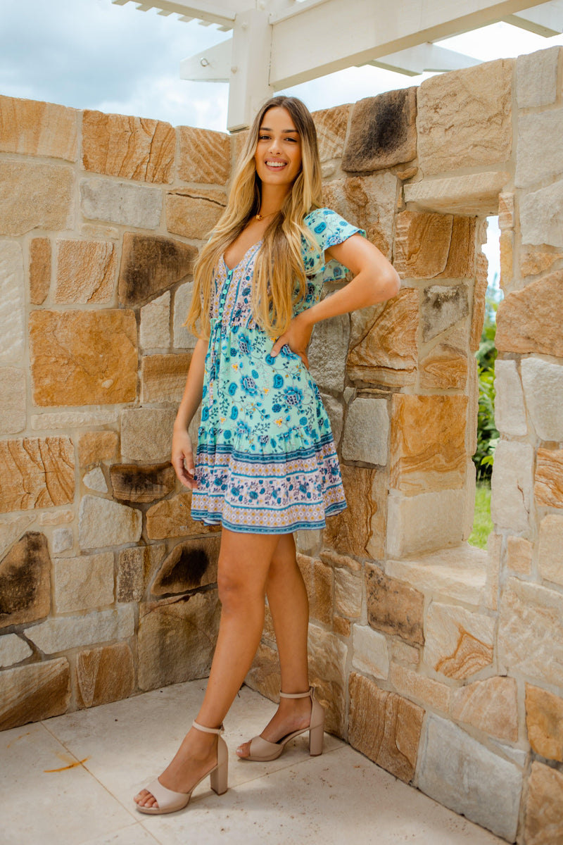 The Nala Dress - Mint