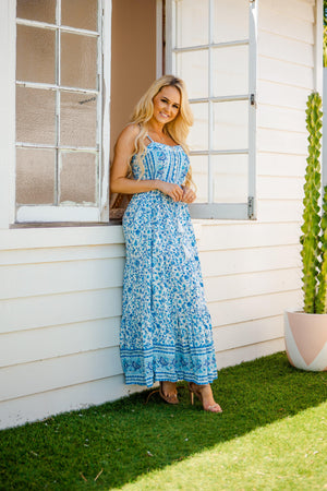 The Embry Dress - Pacific Blue