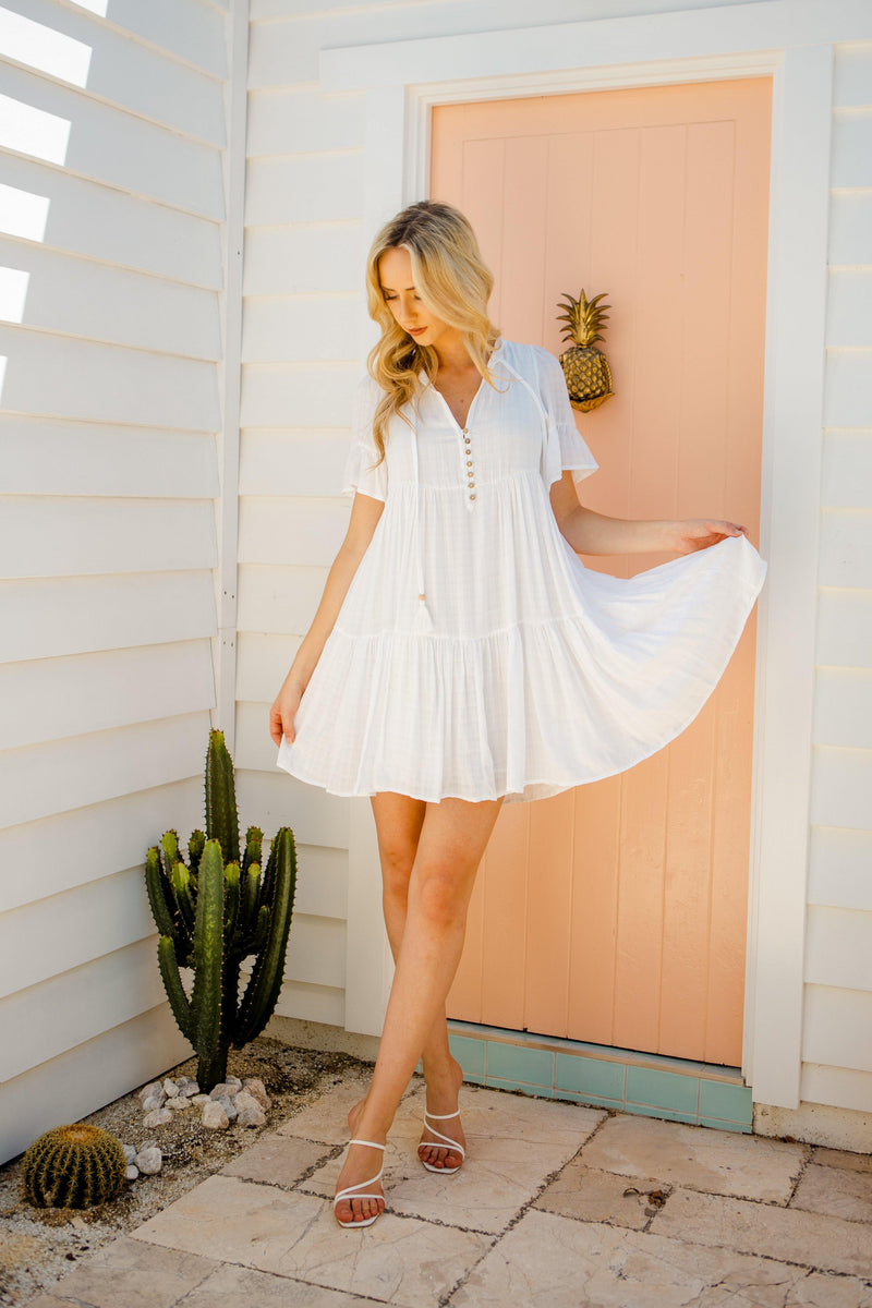 The Emerson Dress - White Haven