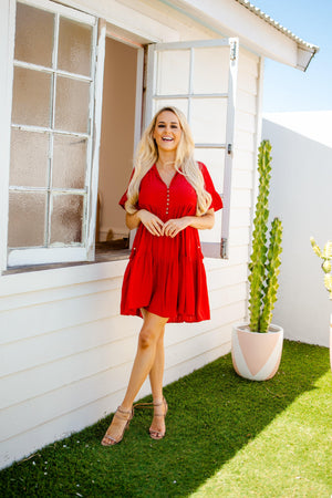The Emerson Dress - Luscious Red