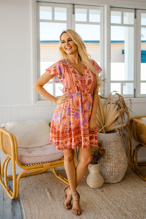 The Nala Dress - Orange Sherbet