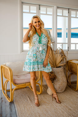 The Jasmina Dress – Sea Green