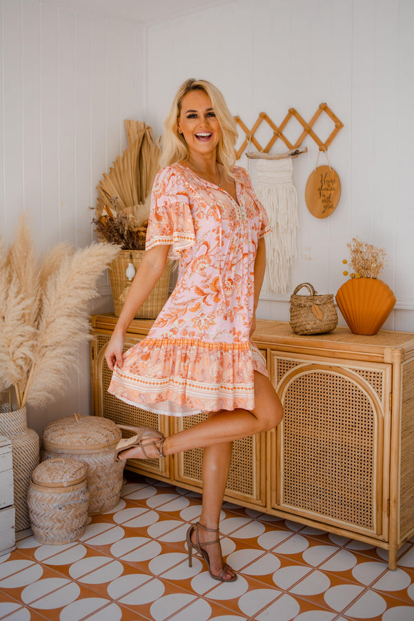 The Aviva Dress - Peach