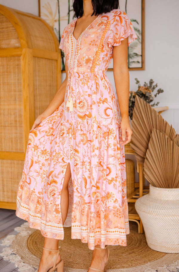 The Ember Dress - Peach