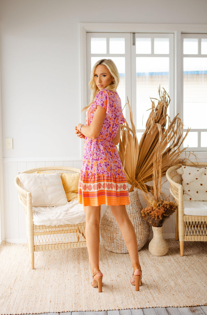 The Nala Dress - Sherbet Pink