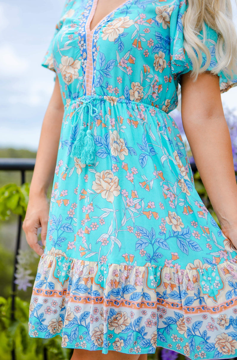 The Jasmina Dress – Sky Blue